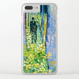 Vincent Van Gogh - Undergrowth with Two Figures Clear iPhone Case