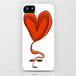 Amor en Mente iPhone Case