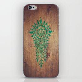 emerald green rustic mandala iPhone Skin