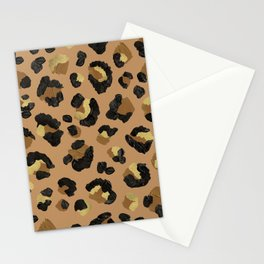 Leopard Print – Neutral & Gold Palette Stationery Cards