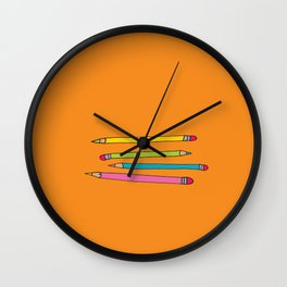 Many Pencils - My Trusted Tools Series  Wall Clock
