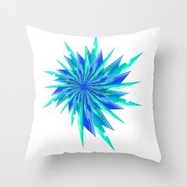 Sharp Snows Throw Pillow