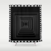 noir Shower Curtains featuring Noir by My own little world