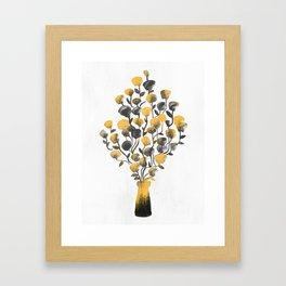 Golden Flower In A Vase Framed Art Print