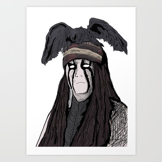 Lone Ranger Johnny Depp Art Print