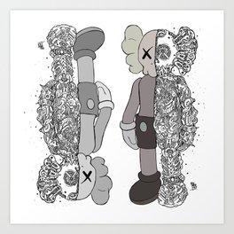 Kaws Couple Art Print