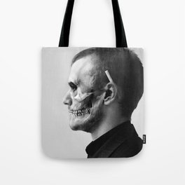 Skull Double Exposure Tote Bag