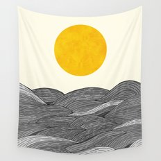 The Grey Waves Wall Tapestry