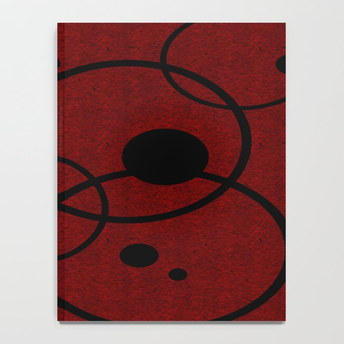 Red with Black Circles Notebook
