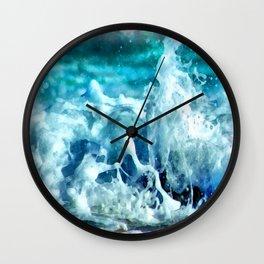 Sea Splash Watercolor Wall Clock