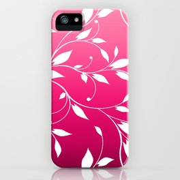 FLOWERY VINES | fuchsia white iPhone Case