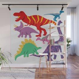 Dinosaur Domination - Light Wall Mural