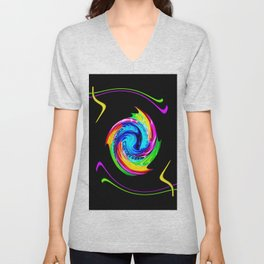 Abstract perfection -100 Unisex V-Neck
