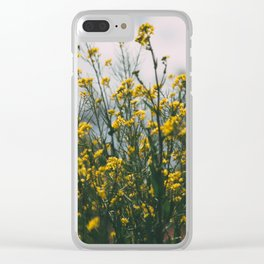 Flores Silvestres Clear iPhone Case