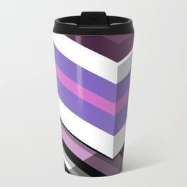 Abstract Lined Purple Travel Mug