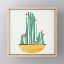 Tiny Cactus Blossoms Framed Mini Art Print