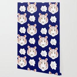 Auburn navy Wallpaper