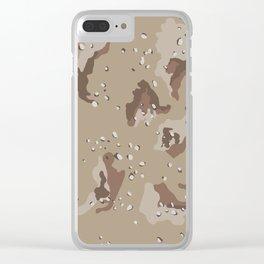 Desert Camo Clear iPhone Case