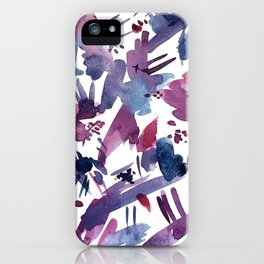 Abstract Blue and Magenta Pattern iPhone Case