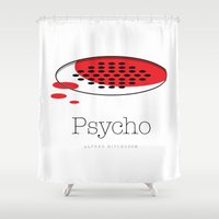 psycho Shower Curtains featuring PSYCHO 2 by Brian Walker