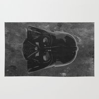 darth vader Area & Throw Rugs featuring Darth Vader by Some_Designs