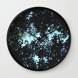 Tops of the leaves of trees silhouettes Wall Clock