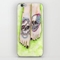 feet iPhone & iPod Skins featuring feet by musentango87