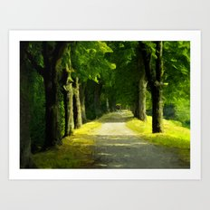 Summer Lane Art Print