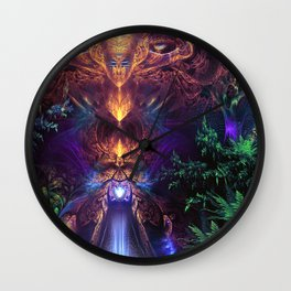 Ancient Infinite - Fractal Manipulation Wall Clock