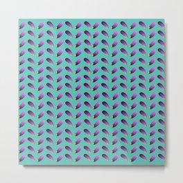 Aubergine painting on aqua Metal Print
