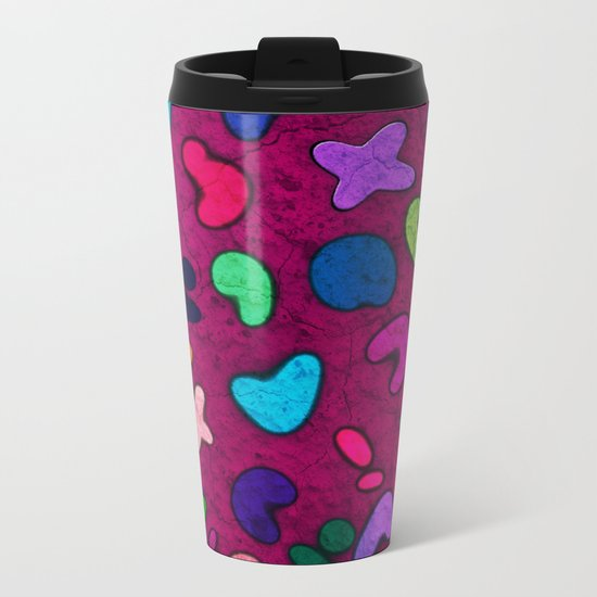 Seamless Colorful Geometric Pattern XXXII Metal Travel Mug