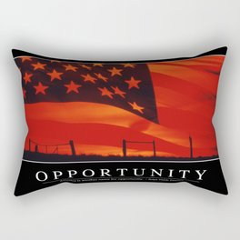 Opportunity: Inspirational Quote and Motivational Poster Rectangular Pillow