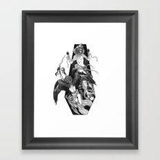 Inverted Coffin Framed Art Print