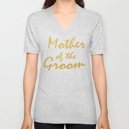 Mother of the Groom Proud Parents Wedding Shirt Unisex V-Neck