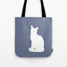 Cat Silhouettes: Russian Blue Tote Bag