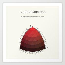 Le Rouge-Orangé (ses diverses nuances combinées avec le noir) Remake (Interpretation) Art Print