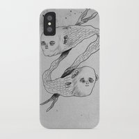 mermaids iPhone & iPod Cases featuring mermaids by Julio Dolbeth