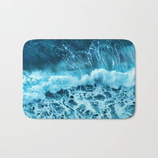 Sea wave Bath Mat