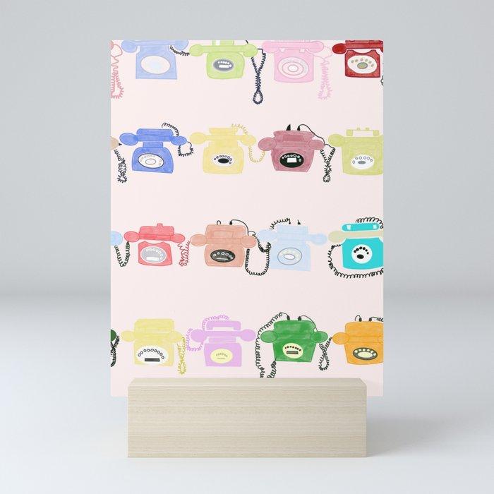 On hold Mini Art Print