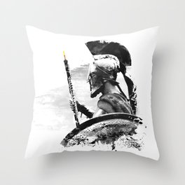 Oboe Warrior Throw Pillow