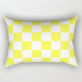 Cheerful Yellow Checkerboard Pattern Rectangular Pillow