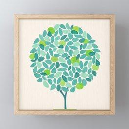 Mid Century Lime Tree Framed Mini Art Print