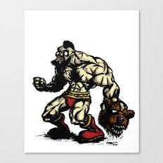 Bear Wrestler - Street Fighter Canvas Print
