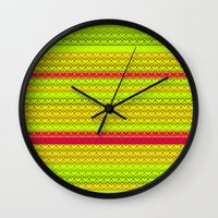 boobs Wall Clocks featuring Boobs & Butts & Hearts - Watermelon by Markkó Hellát