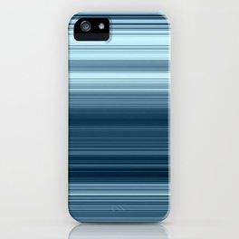 Steel Blue Turquoise Skinny Stripes iPhone Case