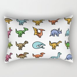 CUTE DINOSAURS PATTERN Rectangular Pillow