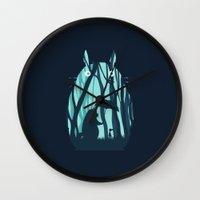 grand theft auto Wall Clocks featuring My Neighbor Totoro by filiskun