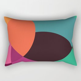 Pink Sunsets Geometric Abstract - Bybrije Rectangular Pillow