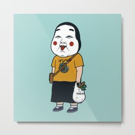 Joyful Girl Metal Print