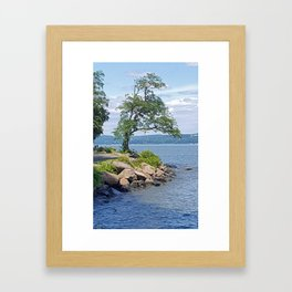 Hudson River Walk Framed Art Print